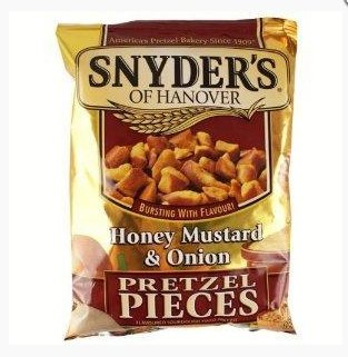 Snyder's Pretzels Honey, Mustard & Onion, 125г